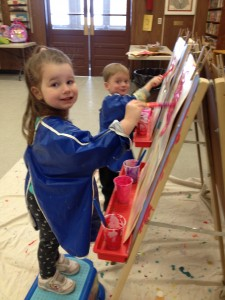 3 year olds painting
